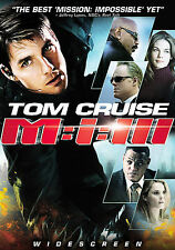 Mission: Impossible III (DVD, 2006) Tom Cruise, Ving Rhames, Sasha Alexander NEW