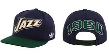 NBA Utah Jazz 1960 Adidas Originals Vintage Logo Snapback Adjustable Cap Hat NEW