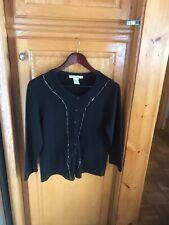 Black Cardigan Sweater Wm Sz L By Requirements