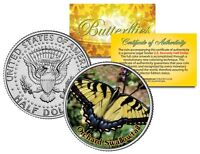 ORCHARD SWALLOWTAIL BUTTERFLY JFK Kennedy Half Dollar US Colorized Coin
