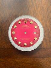 Rolex Datejust Aftermarket Pink Diamond Dial 28mm 16013