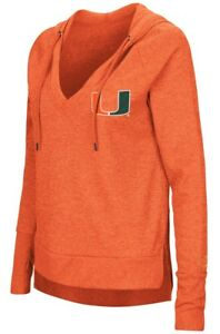 "Miami Hurricanes Women's NCAA ""Never Doubt"" V-neck Hooded Shirt"