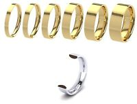 New 9ct 375 Yellow Gold Flat Court Gents Wedding Ring Band Solid & UK Hallmarked