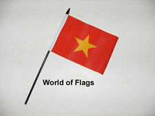 "VIETNAM SMALL HAND WAVING FLAG 6"" x 4""  Vietnamese Asia Craft Table Desk Display"