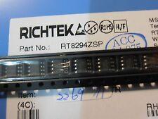 50PCS  RT8294-ZSP   2A, 23V, 340kHz Synchronous Step-Down Converter  SO8 Richtek