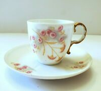ANTIQUE LIMOGES FRANCE ELITE BAWO & DOTTER DEMITASSE CUP & SAUCER 1891-1900