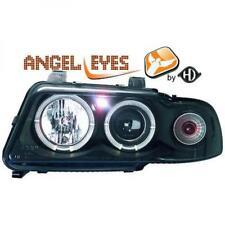 LHD Projector Headlights Pair Angel Eyes Clear Black H1 h1 For Audi A4 Avant