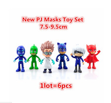 6pcs set PJ Masks Action Figures Characters Catboy Owlette Gekko Cloak Toys
