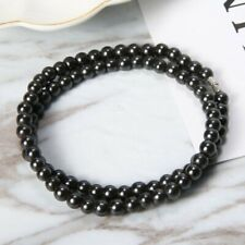 Magnetic Hematite Beads Necklaces Vintage Round Black Pearl Health Care Hot Gift
