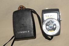 GOSSEN LUNASIX-3 LIGHT METER WITH CASE VERY GOOD CONDITION 8160