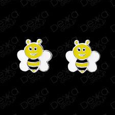 Genuine 925 Sterling Silver Bee Stud Earrings  Mini Studs Girls Children