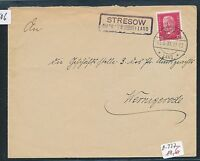 90506) DR   DDR Landpost Ra2 Stresow Burg (BZ Magdeburg) Land, Brief 1931