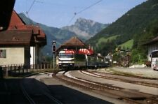 PHOTO  SWITZERLAND CH. D'OEX 1995 TRAM MOB 8001 AND TRAIN