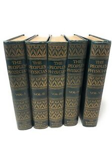 THE PEOPLE'S PHYSICIAN (Subscribers Edition) Complete set of 5 Medical Books