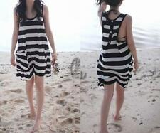 Regular Size Striped Swimdress for Women