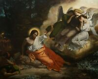 "Catholic print picture-  JESUS WITH ANGELS  -   8"" x 10"" ready to be framed"