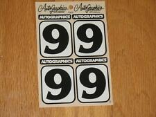Autographics of California No Number 9 Decal Sticker Sheet RC 10 RC10 NASCAR 2.1