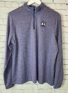 UNDER ARMOUR Womens' Purple Pebble Beach Golf Links 1/4 Zip Sweatshirt Size XL