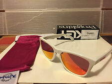 NEW Oakley Limited Edition Frogskins - Polished White / Ruby iridium, 24-307