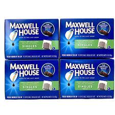 4 Pack Maxwell House Decaf Ground Coffee Original Roast Singles Box BB 03/19