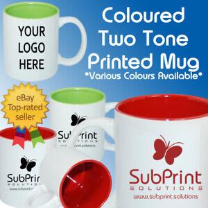 Printed Bulk Business Coffee Mugs Colour Two Tone Branded Mug Personalised Mug