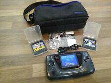 Unbefleckten Sega Game Gear NEU dimmbar LCD Display 3 Spiele USB-Stromversorgung siehe Video