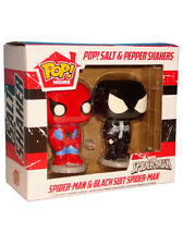 Funko Pop Marvel Salt & Pepper Shakers Spider-Man & Black Symbiote New In Box