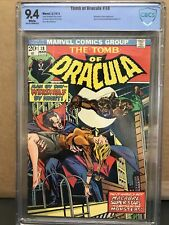TOMB OF DRACULA #18 NM 9.4 WP 1st Werewolf By Night Meets•MARVEL CBCS Not CGC