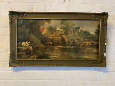 """Antique """"The White Horse"""" Framed After John Constable Painting Reproduction"""