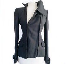 Yves Saint Laurent YSL Rive Gauche Tom Ford Black Silk Military Blazer Jacket