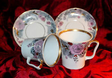 Cup and Plate Vintage Soviet Original Porcelain Lomonosov factory LFZ set of 2