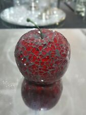 Beautiful red mosaic crackle glass apple,ornament,  fruit table decor