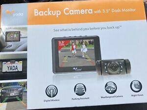 "Yada (BT53872M-2) Matte Black Digital Wireless Backup 3.5"" Dash Monitor"