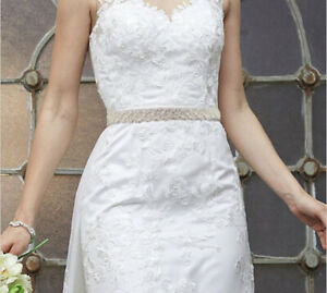 Bridal Sash, Bridal Belt, Wedding Dress Sash Belt, Vintage Rhinestone Crystal