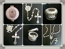 Confirmation Filigree ROSARY BEADS With Dove Centrepiece in Boxed bomboniere