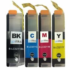 4 Ink Cartridges for Brother LC3211Bk, LC3211C, LC3211M, LC3211Y Compatible