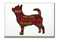 Chihuahua Art Print Word Art A4 A3 Dog Mothers Day Gift Personalised Option