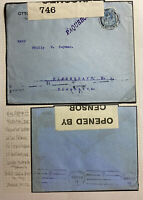 1916 Spain London England Paqueboat Censored Cover To Copenhagen Denmark