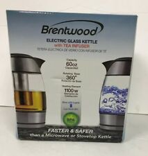 Brentwood Electric Cordless Glass Tea Kettle with Tea Infuser