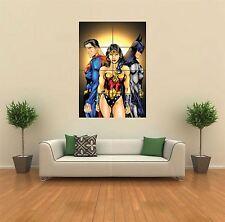 Superman, Wonder Woman, Cartel De Batman Nuevo gigante impresión de arte pared de imagen G483
