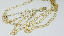 VERONESE ETRUSCA GOLD CLAD STERLING SILVER HAMMERED LINK LONG NECKLACE 100""