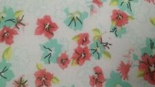 Hi Multi Chiffon with Floral Printed and White/Blue/Pink,57/59&#03 4;width,by the yard