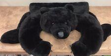 Black Bear Skin Rug Chrisha Playful Plush Faux Fur Kids Room Decor Animal Cabin