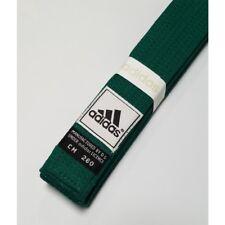New adidas Taekwondo Karate Belt Martial Arts Judo JiuJitsu 100% Cotton-GREEN