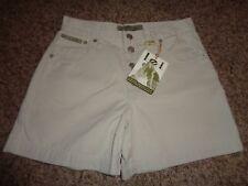 NWT l.e.i. Junior Women's Khaki Shorts, Sz 1, Button Fly 7874