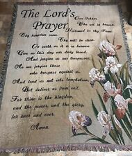 The Lords Prayer Blanket Nwot Tapstery Beautiful