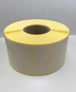 60mm x 25mm Thermal Transfer Labels - 2,000 per Roll - 38mm Core - Zebra