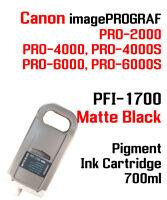 PFI-1700 Matte Black Canon imagePROGRAF PRO compatible Ink cartridge 700ml