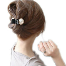Fashion Women Girls Large Pearl Hair Clips Pins Claws Barrettes Accessories