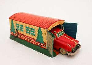ALPS Garage and Fire Dept car No 110 Japan 1960´s - Tin toy